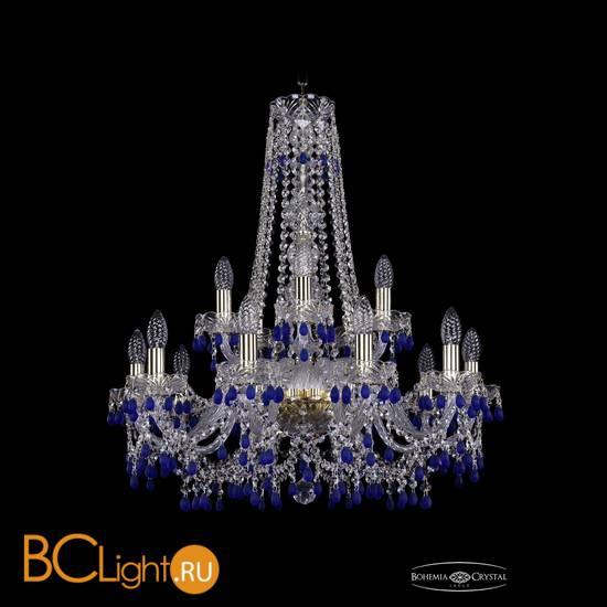 Люстра Bohemia Ivele Crystal 1410/10+5/240/h-75/G/V3001