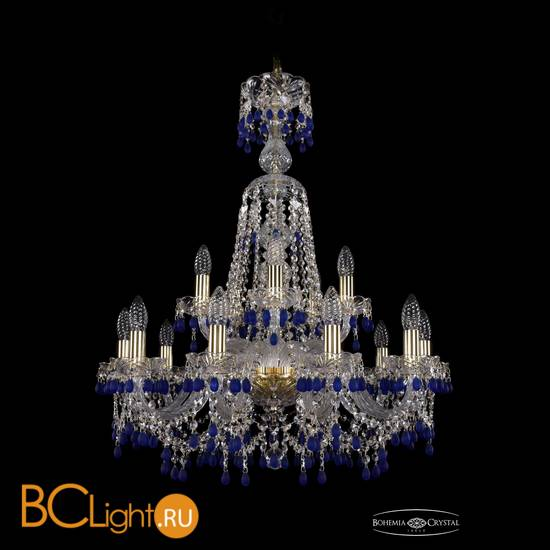 Люстра Bohemia Ivele Crystal 1410/10+5/240/XL-80/G/V3001