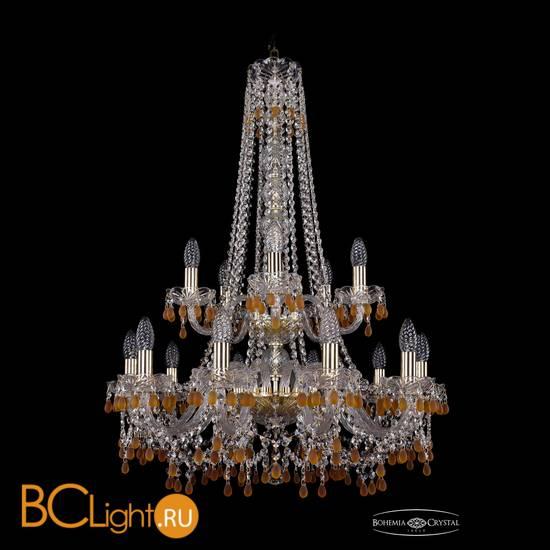 Люстра Bohemia Ivele Crystal 1410/10+5/240/h-91/2d/G/V1003