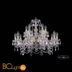 Люстра Bohemia Ivele Crystal 1411/10+5/240/G/Leafs