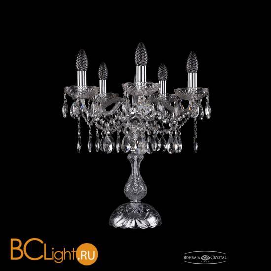 Настольная лампа Bohemia Ivele Crystal 1413L/5/141-47/Ni