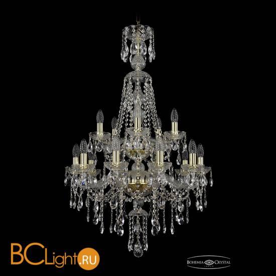 Люстра Bohemia Ivele Crystal 1415/10+5/220/XL-104/2d/G