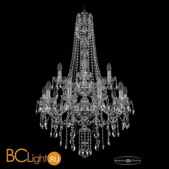 Люстра Bohemia Ivele Crystal 1415/10+5/220/h-102/2d/Ni