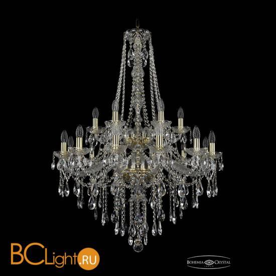 Люстра Bohemia Ivele Crystal 1415/12+6/300/h-112/2d/G