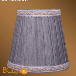 Абажур Bohemia Ivele Crystal SH6A серебряный индийский шелк с бело-золотой каймой