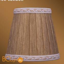 Абажур Bohemia Ivele Crystal SH7A золотой индийский шелк с бело-золотой каймой