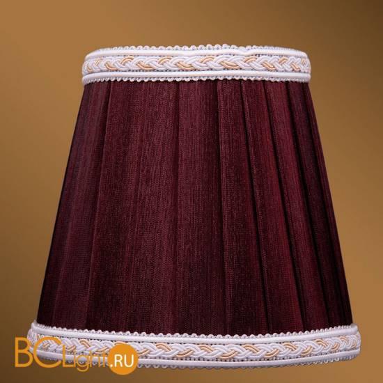 Абажур Bohemia Ivele Crystal SH9A темный бордо с бело-золотой каймой