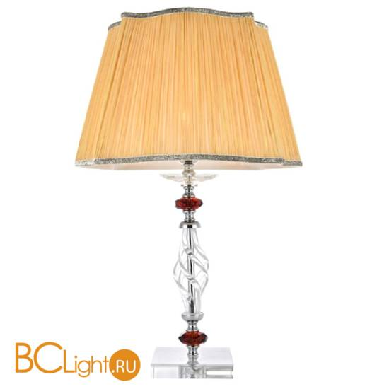 Настольная лампа Crystal lux Catarina LG1 GOLD/TRANSPARENT-COGNAC