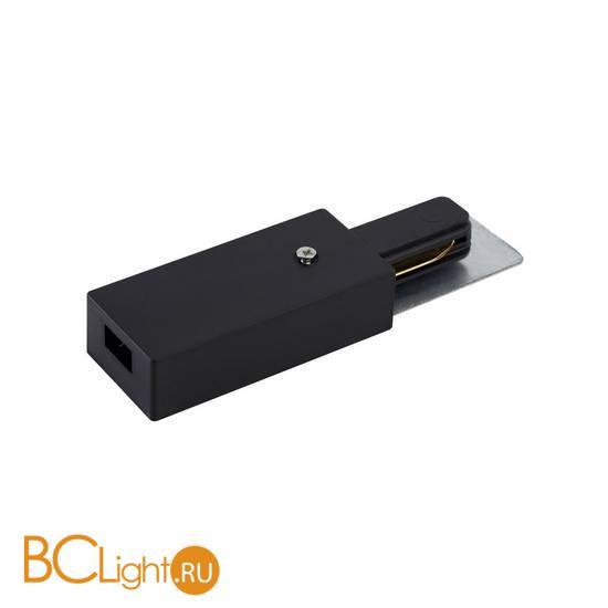 Токоподвод для однофазного шинопровода Crystal lux CLT 0.210 01 BL