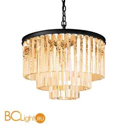 Подвесной светильник DeLight Collection 1920s Odeon KR0387P-6 black/amber