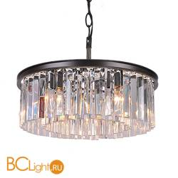 Подвесной светильник DeLight Collection 1920s Odeon KR0387P-6B/P black/clear