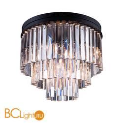 Потолочный светильник DeLight Collection 1920s Odeon KR0387C-6/P black/clear