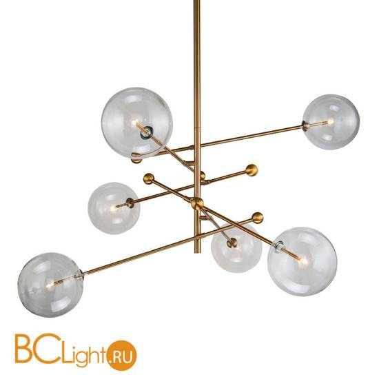 Люстра DeLight Collection Globe Mobile KG0835P-6 brass