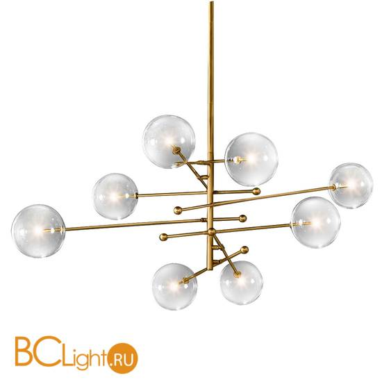 Люстра DeLight Collection Globe Mobile KG0835P-8 brass