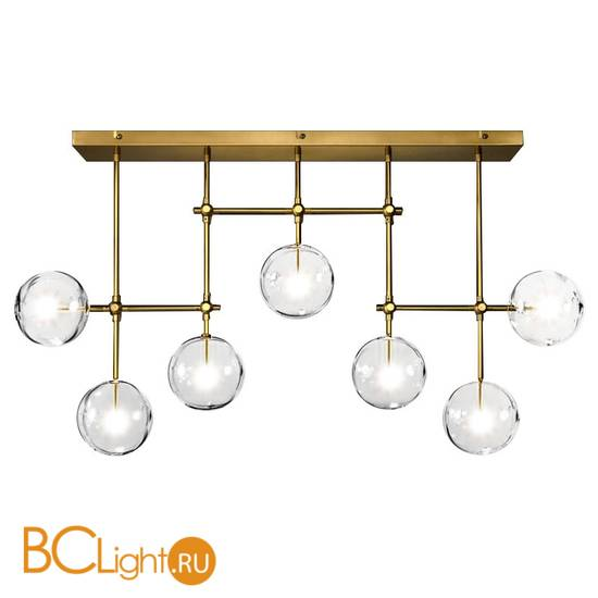 Люстра DeLight Collection Globe Mobile KG0835P-7A brass