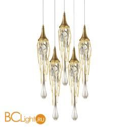 Подвесной светильник DeLight Collection Goddess Tears PR68009L-5H/R gold
