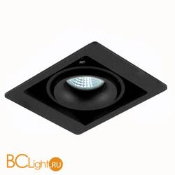 Встраиваемый спот (точечный светильник) Donolux DL18615/01WW-SQ Shiny black/Black