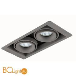 Встраиваемый спот (точечный светильник) Donolux DL18615/02WW-SQ Silver Grey/Black