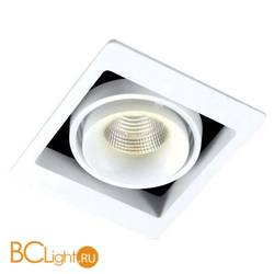 Встраиваемый спот (точечный светильник) Donolux DL18615/01WW-SQ White/Black