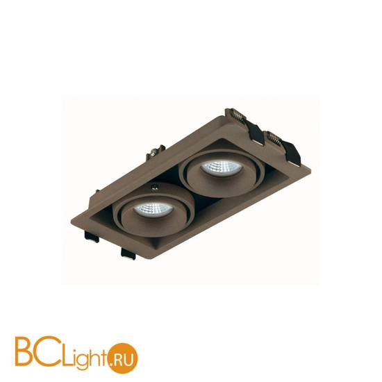 Встраиваемый спот (точечный светильник) Donolux DL18615/02WW-SQ Champagne/Black
