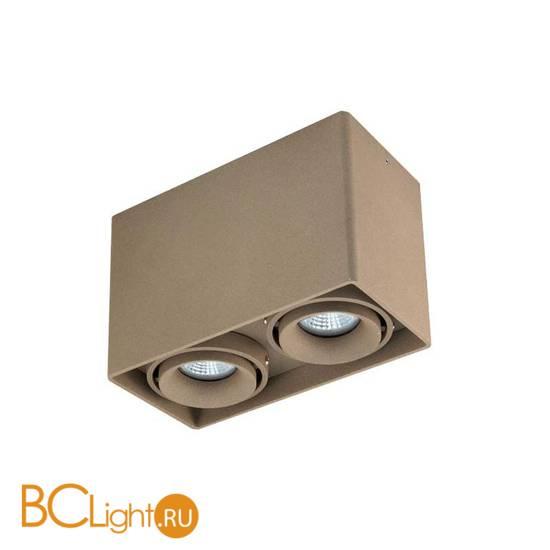Накладной светодиодный точечный светильник Donolux Lumme DL18610/02WW-SQ Champagne