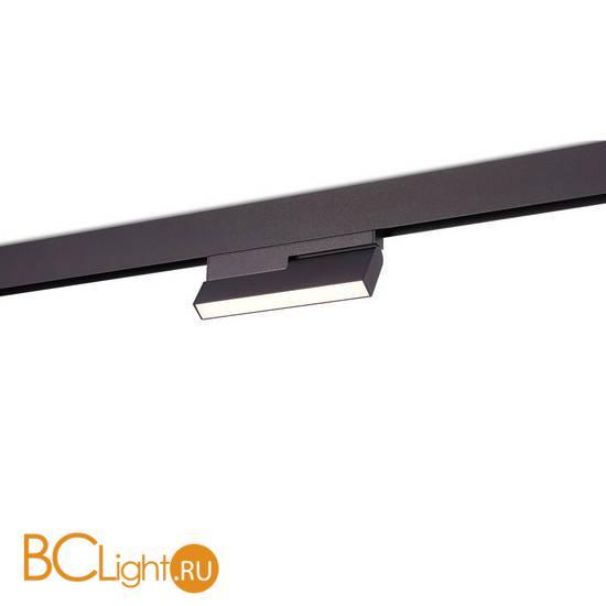 Трековый светильник для магнитного шинопровода Donolux SPACE-Track system Line Turn DL20294WW8B 8W 3000K 313Lm черный