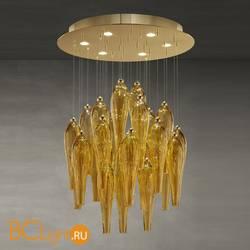 Потолочный светильник Euroluce Abstract 60 gold Amber