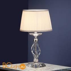 Настольная лампа Euroluce Alicante LP1 silver Clear shade