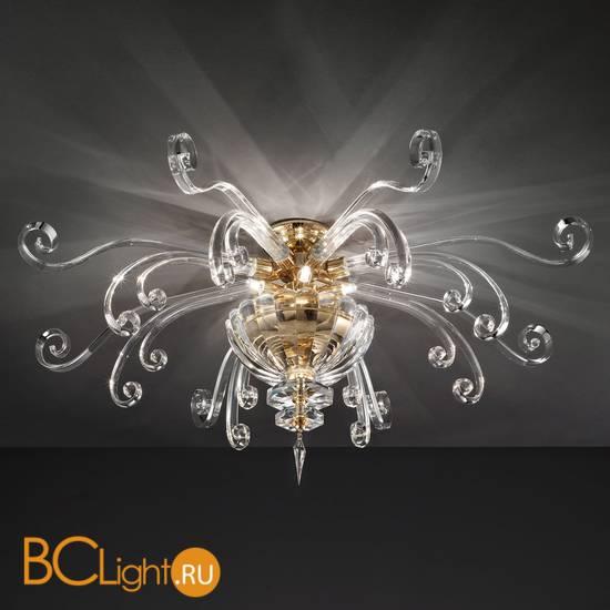 Потолочный светильник Euroluce Alicante PL6 gold Clear