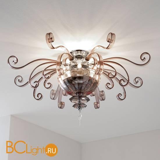 Потолочный светильник Euroluce Alicante PL4 silver Fume