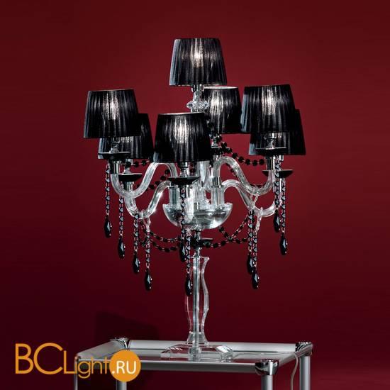 Настольная лампа Euroluce Arcobaleno F6+1L Silver Clear Black
