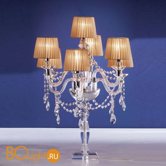 Настольная лампа Euroluce Arcobaleno F6+1L Silver Clear Golden