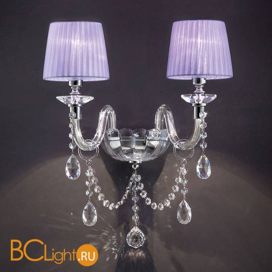 Бра Euroluce Arcobaleno A2 Silver Clear Violet