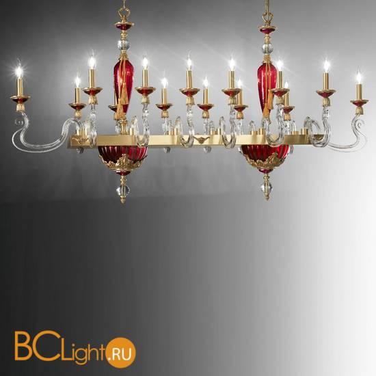 Люстра Euroluce Barocco Axis 14 gold Ruby