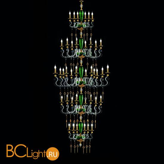 Люстра Euroluce Barocco L28 SUPERLUX SPECIAL EDITION gold Green
