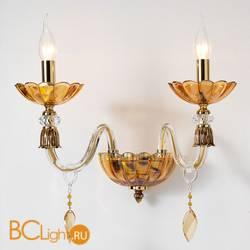 Бра Euroluce Bloom A2 Gold Amber