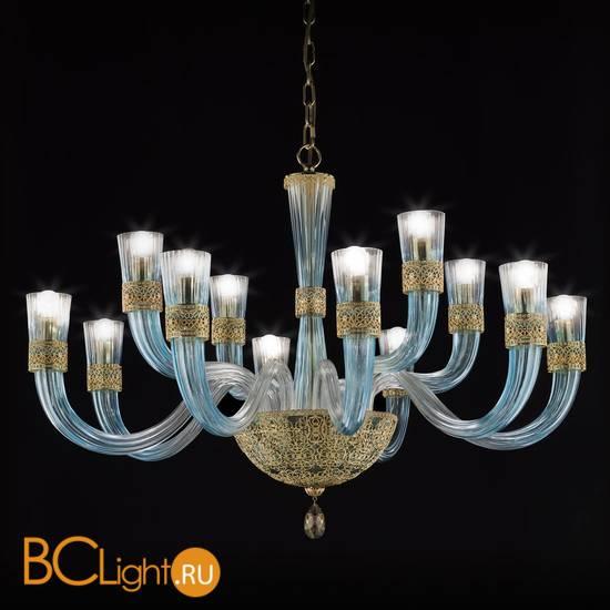 Люстра Euroluce Dea L8+4 gold Tiffany