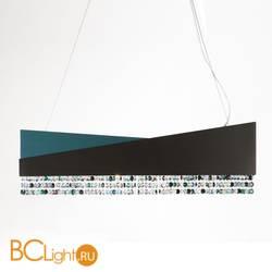Подвесной светильник Euroluce Horizon lux 66 Black/Teal Sw