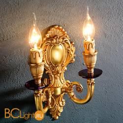 Бра Euroluce Luigi XV A2 gold Amethyst