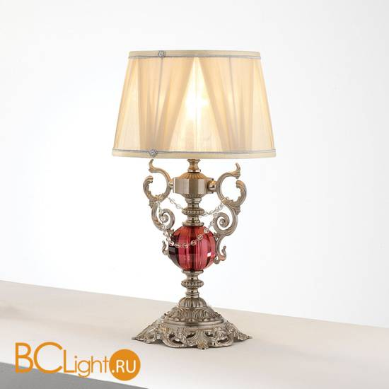 Настольная лампа Euroluce Lyra LP1 Silver Antique rose