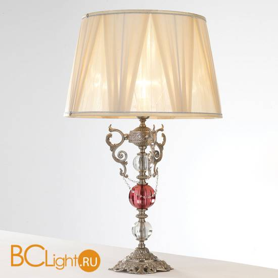 Настольная лампа Euroluce Lyra LG1 Silver Antique rose