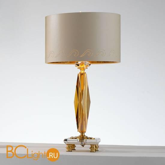 Настольная лампа Euroluce Perseo LP1 Gold Amber