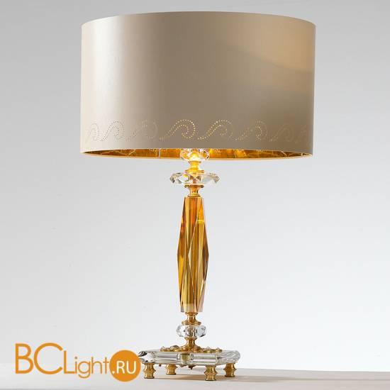 Настольная лампа Euroluce Perseo LG1 Gold Amber
