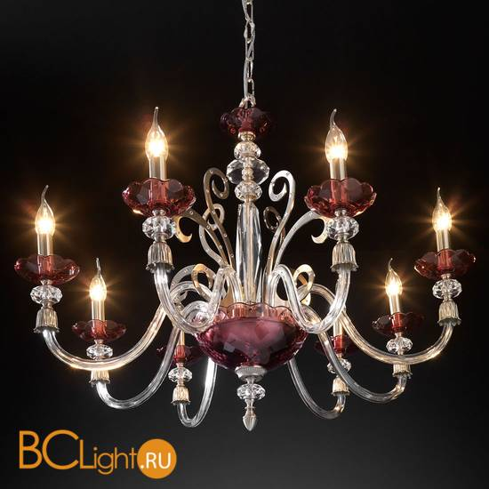 Люстра Euroluce Perseo L8 Silver Antique rose