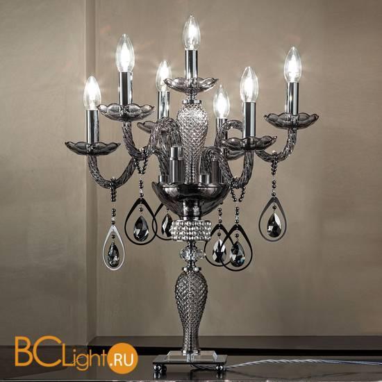 Настольная лампа Euroluce Toochic F6+1L Silver Fume