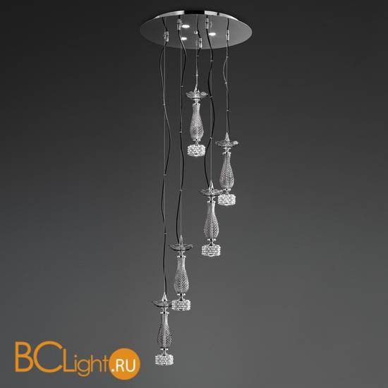 Подвесной светильник Euroluce Toochic S5+3 LED Silver Fume