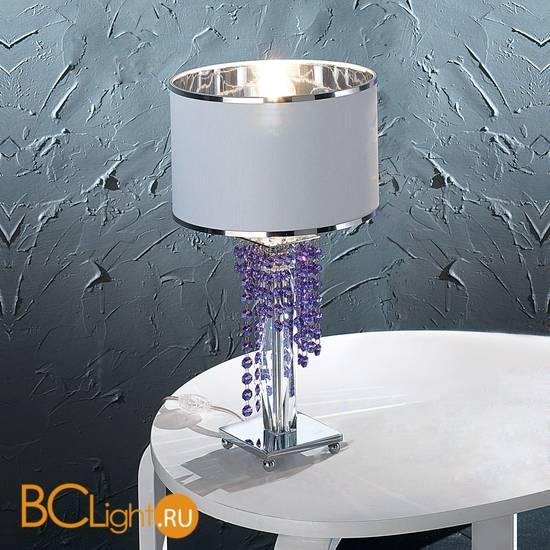 Настольная лампа Euroluce Venice Superlux LP1 silver blue violet