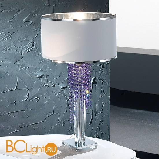 Настольная лампа Euroluce Venice Superlux LG1 silver blue violet