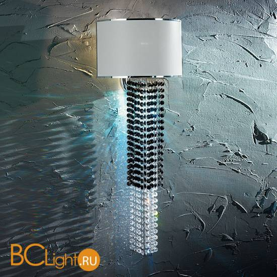 Бра Euroluce Venice Superlux A1+LED silver clear+jet white-shade