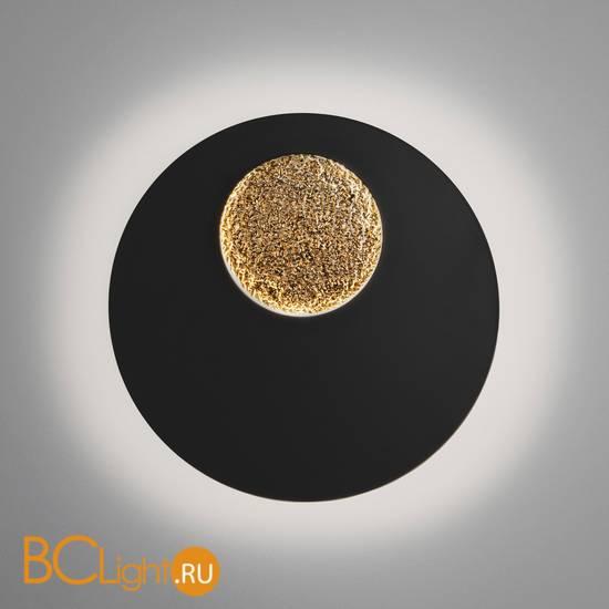 Настенный светильник Eurosvet Areola 40150/1 LED черный /золото